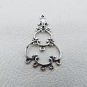 Harang alakú köztes - 5db, Gyöngy, ékszerkellék, Egyéb alkatrész, Fémmegmunkálás, ötvösség, Cink ötvözet harang alakú köztes, összekötő vagy veret, antikolt ezüst színben. Ón és nikkelmentes ..., Alkotók boltja