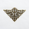 Háromszögek - 5db - bronz, Gyöngy, ékszerkellék, Egyéb alkatrész, Vas ötvözet háromszögek bronz színben. Használható mint köztes, összekötő vagy veret, sar..., Alkotók boltja