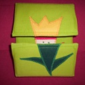 Tulipánból paprika -Zöld alapon, Baba-mama-gyerek, Játék, Készségfejlesztő játék, Baba-mama kellék, Patchwork, foltvarrás, Varrás,  Tulipánból paprika,paprikából Jancsika, Jancsikából kis király, kis királyból tulipán!  Anyaga szí..., Meska