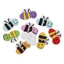 Méhecske formájú gombok vegyes színekben, Dekorációs kellékek, Gomb, Méhecske formájú gombok vegyes színekben Mérete: 20 mm x 13 mm 10 db/ csomag Ára: 300 Ft/ csom..., Alkotók boltja