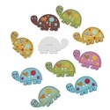 Aranyos teknős fa gombok vegyes színekben, Dekorációs kellékek, Gomb, Aranyos teknős fa gombok vegyes színekben Mérete: 28 mm x 16 mm 10 db/csomag Ára: 330 Ft/csomag (33 ..., Alkotók boltja