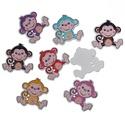 Aranyos majom formájú fa gomb vegyes színekben , Gomb, Dekorációs kellékek, Aranyos majom formájú fa gombok vegyes színekben Mérete: 29 mm x 28 mm 10 db/csomag Ára: 350 Ft/csom..., Alkotók boltja