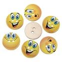 Smiley kerek fa gomb vegyesen , Dekorációs kellékek, Gomb, Smiley kerek fa gomb vegyesen Mérete: 24 mm 10 db / csomag Ára: 350 Ft/csomag (35 Ft/db) A termékekr..., Alkotók boltja