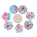 Pillangós, virágos mintás vegyes formájú gomb, Dekorációs kellékek, Gomb, Mindenmás, Varrás, Gomb, Pillangós, virágos mintás vegyes formájú gomb Mérete: 24 mm 10 db / csomag Ára: 390 Ft/csomag (39 F..., Alkotók boltja