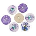 Levendulás kerek formájú gomb vegyesen, Dekorációs kellékek, Gomb, Levendulás kerek formájú gomb vegyesen Mérete: 24 mm 10 db / csomag Ára: 390 Ft/csomag (39 Ft/db) A ..., Alkotók boltja