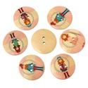 Gyönyörű kislányos kerek formájú gomb vegyesen, Dekorációs kellékek, Gomb, Mindenmás, Varrás, Gomb, Gyönyörű kislányos kerek formájú gomb vegyesen Mérete: 30 mm 5 db / csomag Ára: 250 Ft/csomag (50 F..., Alkotók boltja