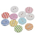 Csíkos kerek formájú gomb vegyes színekben, Dekorációs kellékek, Gomb, Alkotók boltja