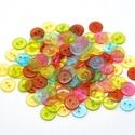 Kerek átlátszó gombok vegyes színekben, Dekorációs kellékek, Gomb, Mindenmás, Varrás, Gomb, Kerek átlátszó gombok vegyes színekben Mérete: 11 mm 30 db/csomag Ára: 300 Ft (10 Ft/db) A csomag v..., Alkotók boltja
