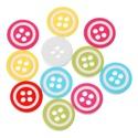 Kerek négy lyukú gombok vegyes színekben
