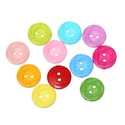 Kerek 15 mm-es két lyukú gombok virág mintával vegyes színekben, Dekorációs kellékek, Gomb, Alkotók boltja