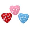 Gyönyörű szív alakú pöttyös gombok vegyes színekben, Dekorációs kellékek, Gomb, Mindenmás, Varrás, Gomb, Gyönyörű szív alakú pöttyös gombok vegyes színekben Mérete: 15 x 14 mm 20 db/csomag Ára: 400 Ft (20..., Alkotók boltja