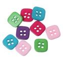 Négyzet formájú négy lyukú gombok vegyes színekben, Dekorációs kellékek, Gomb, Mindenmás, Varrás, Gomb, Négyzet formájú négy lyukú gombok vegyes színekben Mérete: 11 mm 20 db/csomag Ára: 380 Ft (19 Ft/db..., Alkotók boltja
