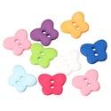 Gyönyörű pillangó formájú műanyag gombok vegyes színekben, Dekorációs kellékek, Gomb, Gyönyörű pillangó formájú műanyag gombok vegyes színekben Méret: 13 mm x 11 mm 20 db/csomag..., Alkotók boltja