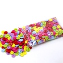 Olcsóbb!!! 100 darabos 9 mm-es színes gomb vegyes színekben, Dekorációs kellékek, Gomb, Alkotók boltja