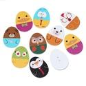 AKCIÓS!!! Húsvéti tojás formájú állatos fa gombok 10 db, Húsvéti tojás formájú állatos fa gombok vegy...