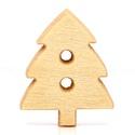 Natúr karácsonyfa alakú gombok, Dekorációs kellékek, Gomb, Natúr karácsonyfa alakú gomb Mérete: 14*12 mm 20 db / csomag Ára: 350 Ft/csomag (17,5 Ft/db)  A term..., Alkotók boltja