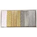 AKCIÓ!!!! 7x1,5m design szalagok dobozban, Textil, Szalag, pánt, AKCIÓ!!!!!!!! A doboz ára most AKCIÓSAN 1.990 Ft helyett 1.790 Ft  Design szalagszett arany-ezüst-fe..., Alkotók boltja