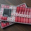 AKCIÓ!!!! 12 méter karácsonyi design szalag dobozban, Textil, Szalag, pánt, AKCIÓ!!!!!!!! A doboz ára most AKCIÓSAN 1.850 Ft helyett 1.690 Ft  Design szalagszett piros-fehér ár..., Alkotók boltja