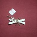 Fa síléc, fehér, Dekorációs kellékek, Figurák, Fa síléc, karácsonyi dekoráció készítéséhez. Mérete:12*4 cm , Alkotók boltja