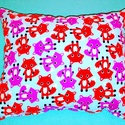 Rókás párna, Otthon, lakberendezés, Baba-mama-gyerek, Gyerekszoba, Falvédő, takaró, Varrás, Minőségi designer textilből készített pihe-puha párna. 30 x 25 cm. , Meska