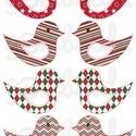 Mintás barkácsfilc - kivágható karácsonyi madarak - geometriai mintás, Textil, Filc, Fehér alapon színes mintás filc anyag. A sablonokat kivágva, összevarrva, kitömve bájos dekorációkat..., Alkotók boltja