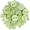 Vegyes méretű gombok - Light Green, Színben harmonizáló, különböző méretű és...