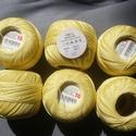 Vanilia sárga 100% pamut horgoló cérna 10-s , Fonal, cérna, Cérna, Alkotók boltja