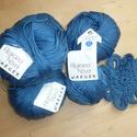 Kék színű  pamut fonal , Fonal, cérna, Pamutfonal, Alkotók boltja