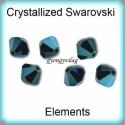 Swarovski kristály bicon 6mm-es 6db/cs GYSWGY B6 AB2x metalic blue, Gyöngy, ékszerkellék, Swarovski kristályok, Ékszerkészítés, Gyöngy, Eredeti swarovski kristály bicon, 2x-es AB bevonattal  . Szín: metalic blue Méret:6mm 6 db / csomag..., Alkotók boltja