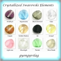 swarovski hosszában fúrt twist több színben 18mm, Gyöngy, ékszerkellék, Swarovski kristályok, Alkotók boltja