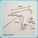 925-ös ezüst fülbevaló kapocs EFK A 22, Gyöngy, ékszerkellék, Egyéb alkatrész, Alkotók boltja