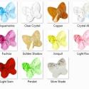 Swarovski pillangó 6mm-es több színben, Gyöngy, ékszerkellék, Swarovski kristályok, SWAROVSKI KRISTÁLY HOSSZÁBAN FÚRT PILLANGÓ , TÖBB SZÍNBEN !  Méret:6mm  Az ár egy darabra vonatkozik..., Alkotók boltja
