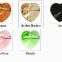 Swarovski szív keresztben fúrt 8mm-es több színben 2db /csomag, Gyöngy, ékszerkellék, Swarovski kristályok, SWAROVSKI KRISTÁLY SZÍV, KERESZTBEN  FÚRT TÖBB SZÍNBEN !  2db / csomag  Méret:8mm Szín: a készleten ..., Alkotók boltja