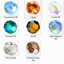 swarovski gömb 4mmb AB-s több színben   4db , Gyöngy, ékszerkellék, Swarovski kristályok, SWAROVSKI KRISTÁLY AB  BEVONATOS GÖMB TÖBB SZÍNBEN !  Méret: 4mm  Egy csomagban 4db kristály van.  A..., Alkotók boltja