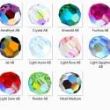Swarovski kristály AB-s gömb 8mm-es több színben 2db/cs, Gyöngy, ékszerkellék, Swarovski kristályok, Alkotók boltja