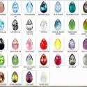 Swarovski csepp 16mm-es több színben, Gyöngy, ékszerkellék, Swarovski kristályok, Alkotók boltja