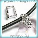 925-ös ezüst medálkapocs  EMK 52, Gyöngy, ékszerkellék, Egyéb alkatrész, Ékszerkészítés, Mindenmás, Szerelékek, 925-ös fémjellel ellátott valódi ezüst (bevizsgált)medálkapocs CZ kristály kővel.  A méreteket a fo..., Alkotók boltja