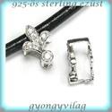 925-ös ezüst medálkapocs  EMK 53, Gyöngy, ékszerkellék, Egyéb alkatrész, 925-ös fémjellel ellátott valódi ezüst (bevizsgált)medálkapocs CZ kristály kővel.  A méreteket a fot..., Alkotók boltja