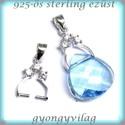 925-ös ezüst medálkapocs  EMK 54, Gyöngy, ékszerkellék, Egyéb alkatrész, 925-ös fémjellel ellátott valódi ezüst (bevizsgált)medálkapocs.  A méreteket a fotón láthatod.  A kr..., Alkotók boltja