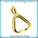 Gold Filled medálkapocs EMK 03G , Gyöngy, ékszerkellék, Egyéb alkatrész, 14K arannyal bevont (gold filled) 925-ös ezüst medálkapocs fülbevaló és medál készítéséhez.  Ha medá..., Alkotók boltja