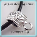 925-ös ezüst medáltartó EMT 09 , Gyöngy, ékszerkellék, Egyéb alkatrész, 925-ös fémjellel ellátott valódi ezüst (bevizsgált)medáltartó,csúszókapocs.   Az ár 1db medál tartór..., Alkotók boltja