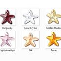 Swarovski tengeri csillag 16mm-es  több színben , Gyöngy, ékszerkellék, Swarovski kristályok, Eredeti swarovski kristály tengeri csillag .  Szín: több színben Méret:16 mm  Az ár egy darabra vona..., Alkotók boltja