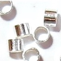 925-ös 2x2mm-es   ezüst köztes / gyöngy / díszitőelem  EKÖ 19, Gyöngy, ékszerkellék, Egyéb alkatrész, EKÖ 19  925-ös valódi  ezüst (bevizsgált) köztes / gyöngy / díszitőelem .  2x2mm-es stopper..., Alkotók boltja