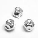 925-ös ezüst köztes/gyöngy/díszitőelem  EKÖ 52, Gyöngy, ékszerkellék, Fém köztesek, EKÖ 52   925-ös valódi  ezüst (bevizsgált) köztes / gyöngy / díszitőelem .    1db / csomag ..., Alkotók boltja