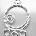 925-ös finomságú sterling ezüst kandeláber/ továbbépíthető köztes /tartó elem  EKA 04, Gyöngy, ékszerkellék, Egyéb alkatrész, EKA 04  925-ös valódi  ezüst (bevizsgált) kandeláber/ továbbépíthető köztes /tartó elem .   1 db / c..., Alkotók boltja