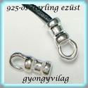 925-ös ezüst  lánckapocsvég 1mm-es 2db/cs ELK V 04, Gyöngy, ékszerkellék, Egyéb alkatrész, ELK V 04  925-ös fémjellel ellátott valódi ezüst (bevizsgált) lánckapocs vég ezüsthuzalhoz, bőrhöz, ..., Alkotók boltja