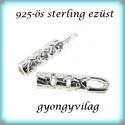 925-ös ezüst  lánckapocsvég 1mm-es 2db/cs ELK V 11, Gyöngy, ékszerkellék, Egyéb alkatrész, ELK V 11  925-ös fémjellel ellátott valódi ezüst (bevizsgált) lánckapocs vég ezüsthuzalhoz, bőrhöz, ..., Alkotók boltja