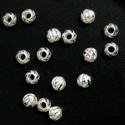 925-ös ezüst köztes/gyöngy/díszitőelem  EKÖ 37, Gyöngy, ékszerkellék, Fém köztesek, EKÖ 37   925-ös valódi  ezüst (bevizsgált) köztes / gyöngy / díszitőelem .  Méret:3 mm  2 db / csoma..., Alkotók boltja