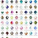 Swarovski bicon 3mm-es AB bevonatos több színben GYSWGY B3 AB , Gyöngy, ékszerkellék, Swarovski kristályok, Ékszerkészítés, Gyöngy, Eredeti  swarovski kristály bicon több színben. Szín: több színben Méret:3mm 1 db  A készlettábláza..., Alkotók boltja