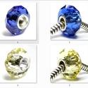925-ös sterling ezüst medál / pandora EM-P 19, Gyöngy, ékszerkellék, Fém köztesek, EM-P 19  925-ös valódi ezüst (bevizsgált) medál, pandóra lánc-karkötő készítéséhez .  1 db / csomag ..., Alkotók boltja